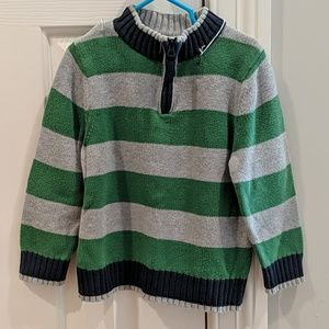 Hanna Andersson 3/4 zip striped sweater